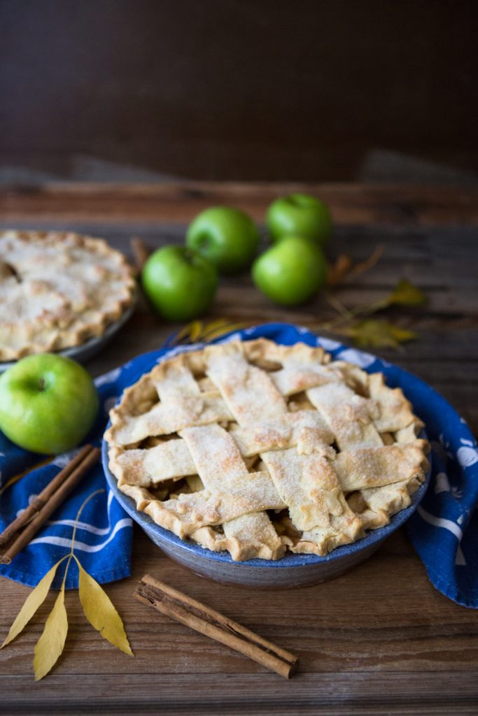 Pear-apple pie on a table